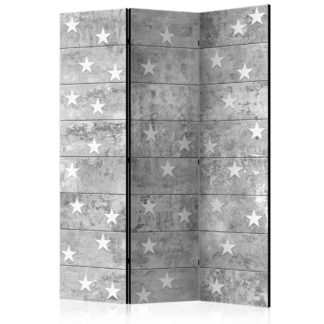 Paraván Stars on Concrete Dekorhome 135x172 cm (3-dílný)