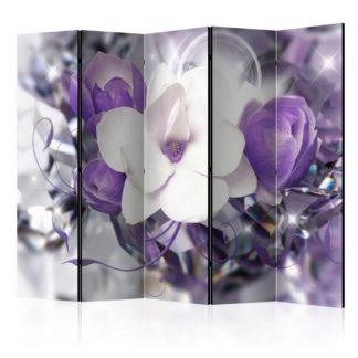 Paraván Purple Empress Dekorhome 225x172 cm (5-dílný)