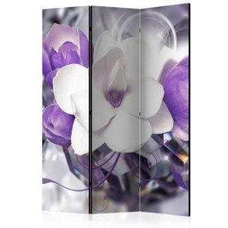 Paraván Purple Empress Dekorhome 135x172 cm (3-dílný)