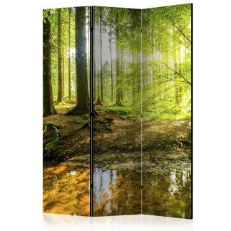 Paraván Forest Lake Dekorhome 135x172 cm (3-dílný)