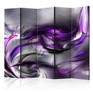 Paraván Purple Swirls Dekorhome 225x172 cm (5-dílný)