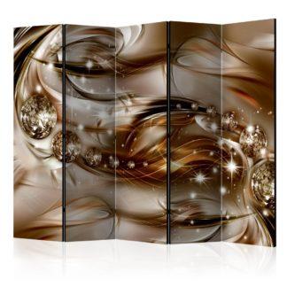 Paraván Chocolate Tide Dekorhome 225x172 cm (5-dílný)