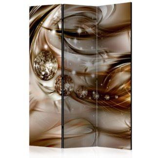 Paraván Chocolate Tide Dekorhome 135x172 cm (3-dílný)
