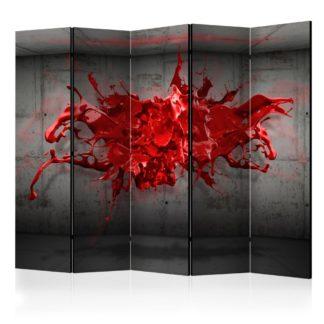 Paraván Red Ink Blot Dekorhome 225x172 cm (5-dílný)