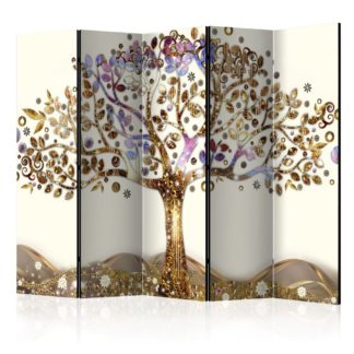 Paraván Golden Tree Dekorhome 225x172 cm (5-dílný)