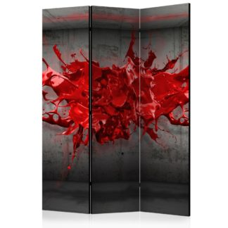 Paraván Red Ink Blot Dekorhome 135x172 cm (3-dílný)