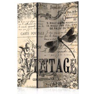 Paraván Vintage Correspondence Dekorhome 135x172 cm (3-dílný)