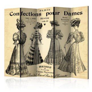 Paraván Confections pour Dames Dekorhome 225x172 cm (5-dílný)
