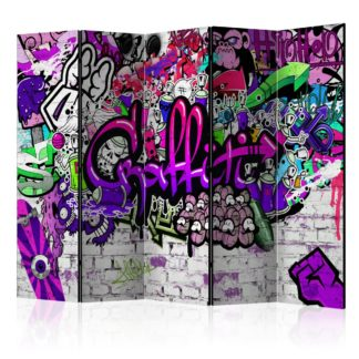 Paraván Purple Graffiti Dekorhome