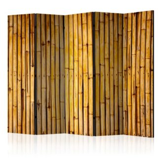 Paraván Bamboo Garden Dekorhome 225x172 cm (5-dílný)