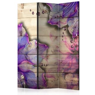 Paraván Purple Memory Dekorhome 135x172 cm (3-dílný)