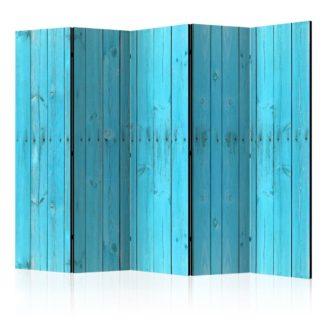 Paraván The Blue Boards Dekorhome 225x172 cm (5-dílný)