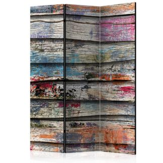 Paraván Colourful Wood Dekorhome 135x172 cm (3-dílný)