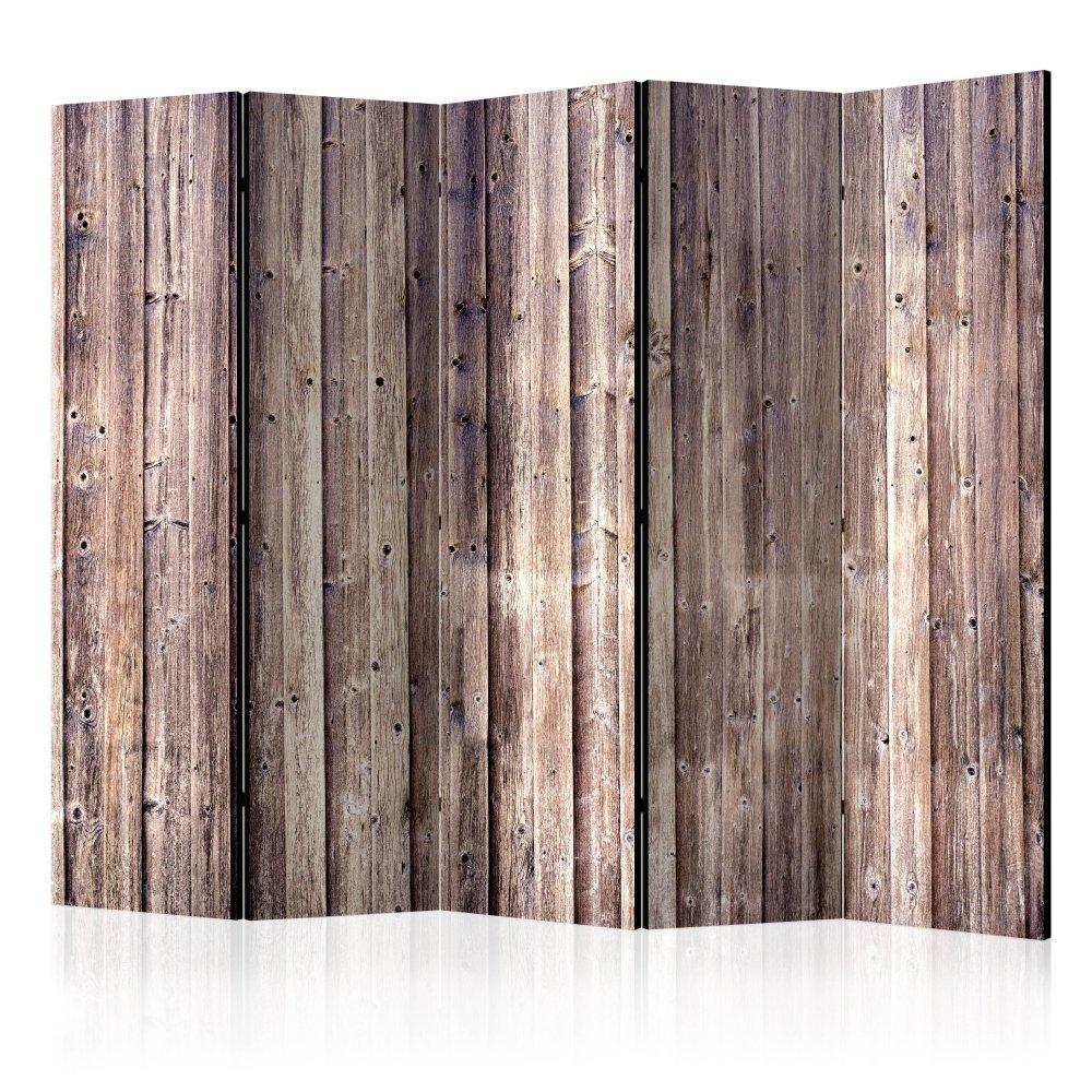 Paraván Wooden Charm Dekorhome 225x172 cm (5-dílný)
