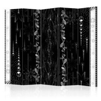 Paraván Black Elegance Dekorhome 225x172 cm (5-dílný)