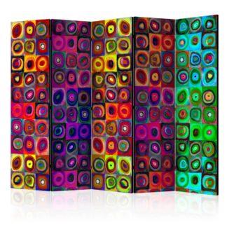 Paraván Colorful Abstract Art Dekorhome 225x172 cm (5-dílný)