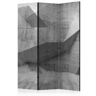 Paraván Concrete Geometry Dekorhome 135x172 cm (3-dílný)