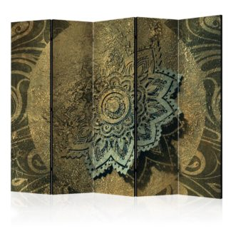 Paraván Golden Treasure Dekorhome 225x172 cm (5-dílný)
