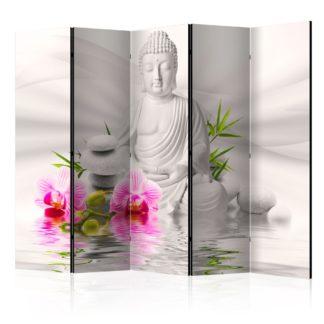 Paraván Buddha and Orchids Dekorhome 225x172 cm (5-dílný)