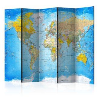 Paraván World Classic Map Dekorhome