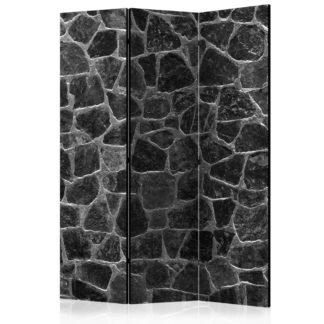 Paraván Black Stones Dekorhome 135x172 cm (3-dílný)