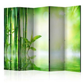 Paraván Green Bamboo Dekorhome 225x172 cm (5-dílný)