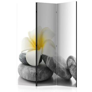 Paraván White Lotus Dekorhome 135x172 cm (3-dílný)