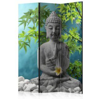 Paraván Meditating Buddha Dekorhome 135x172 cm (3-dílný)