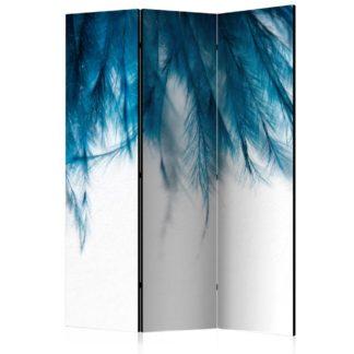 Paraván Sapphire Feathers Dekorhome 135x172 cm (3-dílný)