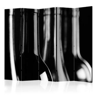 Paraván Wine Bottles Dekorhome 225x172 cm (5-dílný)