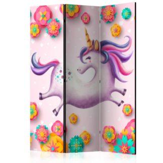 Paraván Lithe Unicorn Dekorhome 135x172 cm (3-dílný)