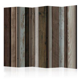 Paraván Wooden Fan Dekorhome 225x172 cm (5-dílný)