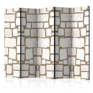 Paraván Stone Riddle Dekorhome 225x172 cm (5-dílný)
