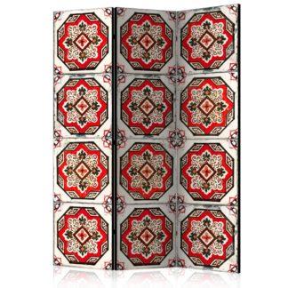 Paraván Dance of Red Line Dekorhome 135x172 cm (3-dílný)