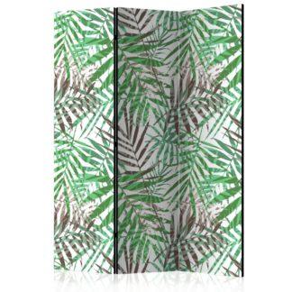 Paraván Wild Leaves Dekorhome 135x172 cm (3-dílný)