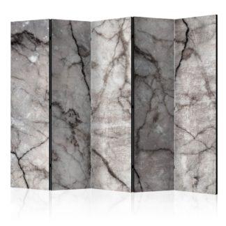 Paraván Grey Marble Dekorhome 225x172 cm (5-dílný)