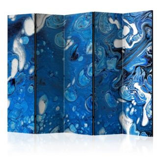 Paraván Blue Stream Dekorhome 225x172 cm (5-dílný)