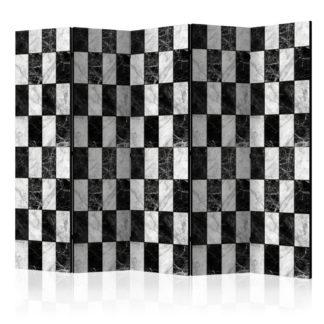 Paraván Checker Dekorhome 225x172 cm (5-dílný)