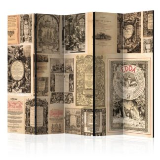 Paraván Vintage Books Dekorhome 225x172 cm (5-dílný)
