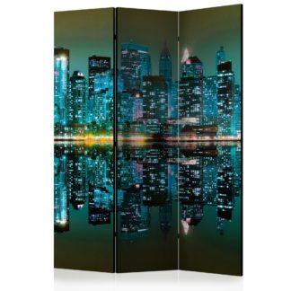 Paraván Gold reflections - NYC Dekorhome 135x172 cm (3-dílný)