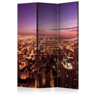 Paraván Chicago Panorama Dekorhome 135x172 cm (3-dílný)