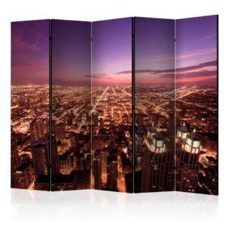 Paraván Chicago Panorama Dekorhome 225x172 cm (5-dílný)