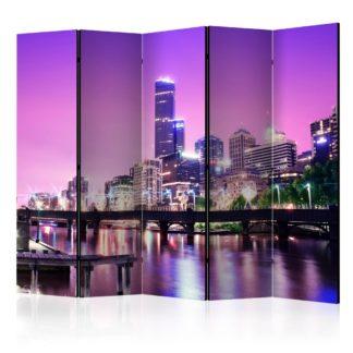 Paraván Purple Melbourne Dekorhome 225x172 cm (5-dílný)