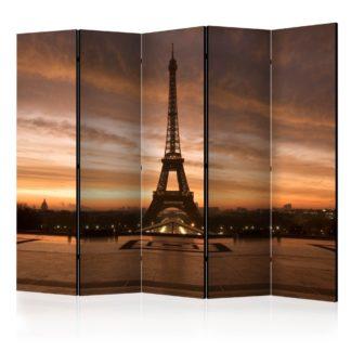 Paraván Evening Colours of Paris Dekorhome 225x172 cm (5-dílný)