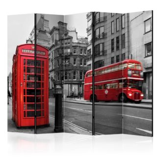 Paraván London Icons Dekorhome 225x172 cm (5-dílný)