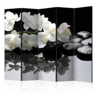 Paraván Spa, Stones and Orchid Dekorhome 225x172 cm (5-dílný)
