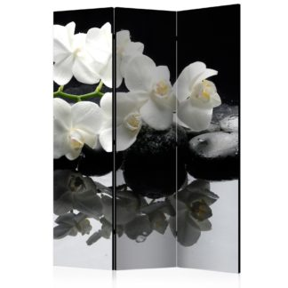 Paraván Spa, Stones and Orchid Dekorhome 135x172 cm (3-dílný)