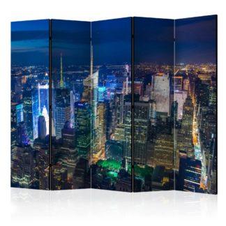 Paraván Manhattan - night Dekorhome 225x172 cm (5-dílný)