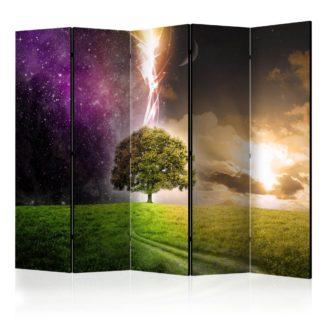Paraván Magic Tree Dekorhome 225x172 cm (5-dílný)