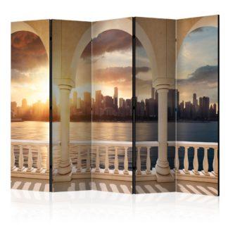 Paraván Dream about New York Dekorhome 225x172 cm (5-dílný)